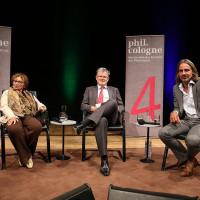 Agnes Heller, Christopher Clark und Richard David Precht bei der Eröffnung ©Ast/Jürgens
