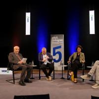 Alfred Grosser, Daniel Cohn-Bendit, Patrizia Nanz und Jürgen Wiebicke ©Ast/Juergens