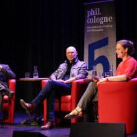phil.cologne 2017: Reinhard Merkel, Stephan Rammler und Catherine Newmark ©Ast/Juergens