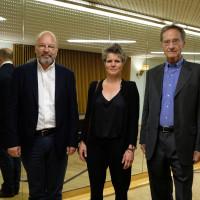 Stefan Gosepath, Svenja Flaßpöhler und Bernhard Schlink ©Ast/Juergens