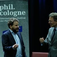 phil.cologne 2017: Wolfram Eilenberger und Luciano Floridi ©Ast/Juergens