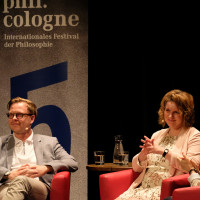 phil.cologne 2017: Markus Gabriel, Yvonne Hofstetter und Barbara Bleisch ©Ast/Juergens