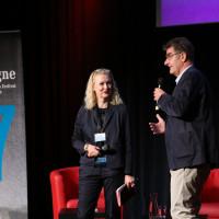 phil.cologne 2019: Sabine Dengel (bpb) und Jürgen Wiebicke eröffnen die Fachtagung ©Ast/Juergens