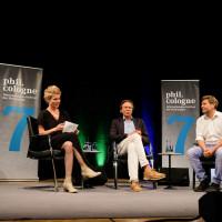 phil.cologne 2019: Svenja Flaßpöhler, Harald Welzer und Robert Habeck ©Ast/Juergens