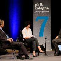 phil.cologne 2019: Bernhard Schlink, Simone Miller und Tobias Rosefeldt ©Ast/Juergens