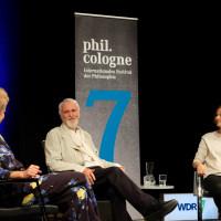 phil.cologne 2019: Svenja Flaßpöhler, Gernot Böhme und Giulia Enders ©Ast/Juergens