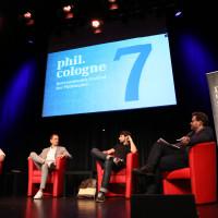 phil.cologne 2019: Christoph Biermann, Joti Chatzialexiou, Thomas Broich und Wolfram Eilenberger ©Ast/Juergens