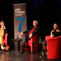 phil.cologne 2019: Svenja Flaßpöhler, Claus-Steffen Mahnkopf und Salomé Balthus ©Ast/Juergens