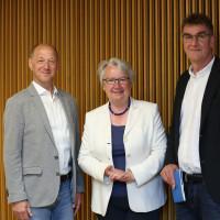 phil.cologne 2019: Rainer Osnowski, Annette Schavan und Jürgen Wiebicke ©Ast/Juergens