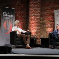 phil.cologne 2021: 07.09.: Tobias Esch und Gert Scobel. ©Ast/Juergens