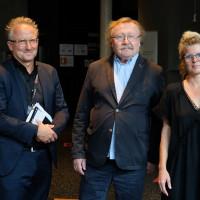 philcologne 2020: Cai Werntgen (Udo-Keller-Stiftung/Forum Humanum), Peter Sloterdijk und Svenja Flaßpöhler ©Ast/Juergens