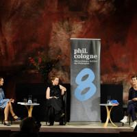 philcologne 2020: v.l.n.r.: Barbara Bleisch, Millay Hyatt und Susanne Schmetkamp ©Ast/Juergens